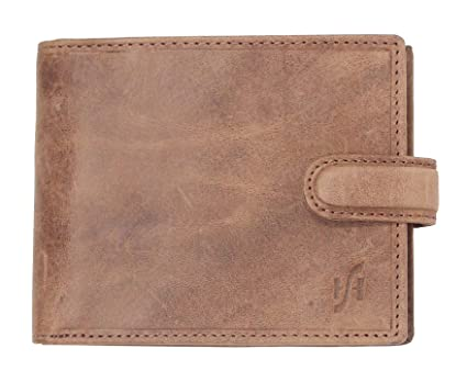bef7c471eade StarHide Mens RFID Blocking Real Distressed Leather Wallet ID Holder Coin  Purse 1212  Amazon.ca  Luggage   Bags