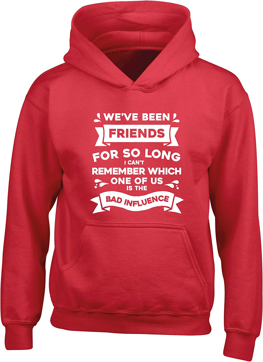 Hippowarehouse Weve Been Friends so Long I Cant Remember which one of us is The Bad Influence Kids Childrens Unisex Hoodie Hooded top