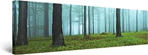 Startonight Canvas Wall Art Morning The Woods - Nature Framed 16 x 48 Inches