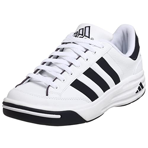 adidas Mens Nastase Millenium Tennis Shoe,White/Navy,13.5 M