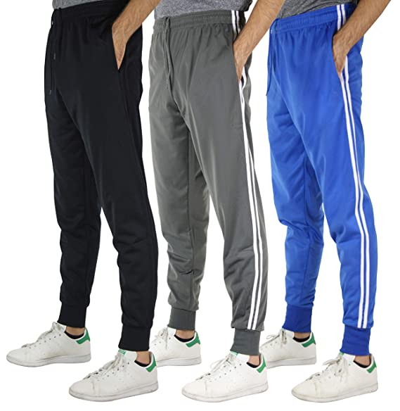 9a85d076589ba Real Essentials 3 Pack: Men's Active Athletic Casual Jogger Sweatpants with  Pockets
