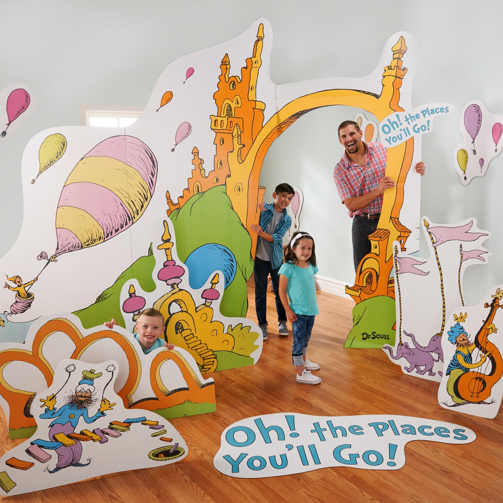 Dr. Seuss Oh The Places You'll Go Life Size Cardboard Party Prop Photo Stand Up Decoration