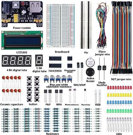 Kit electrónico para principiantes con módulo de fuente de ...