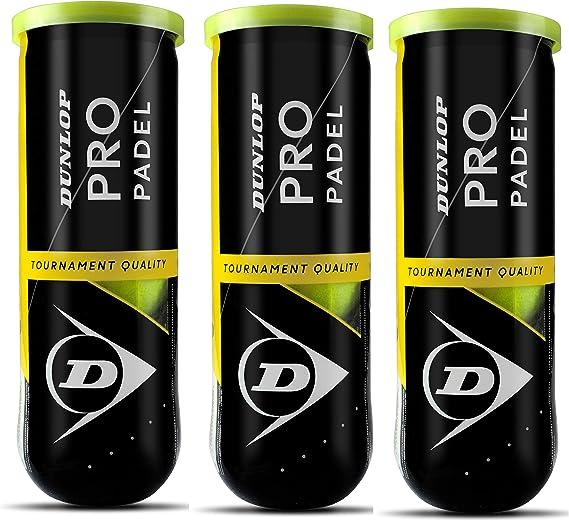 Dunlop Pro Pelota de pádel, Amarillo, pack de 3 . Total 9 pelotas ...