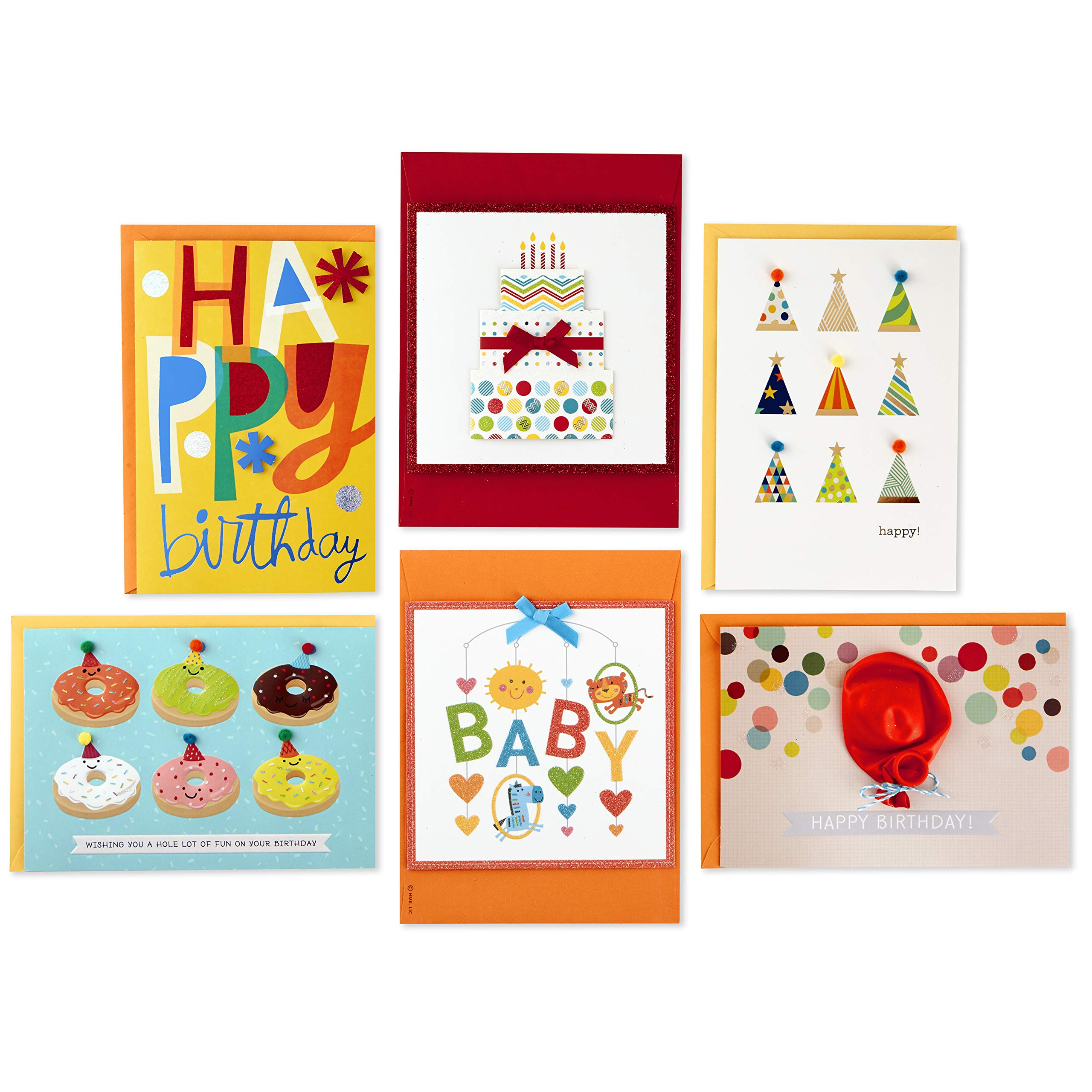 Hallmark Handmade All Occasion Boxed Greeting Card Assortment, Modern Floral (Pack of 24)-Birthday Cards, Baby Shower Cards, Wedding Cards, Sympathy Cards, Thinking of You Cards, Thank You Cards by Hallmark (Image #8)