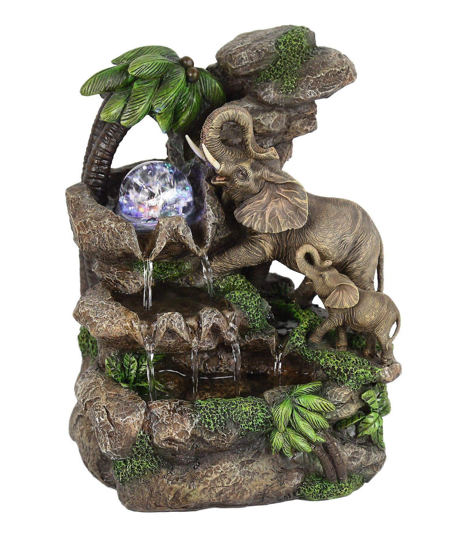 OK Lighting FT-1225/1L 11.00'' H Elephant Table Fountain