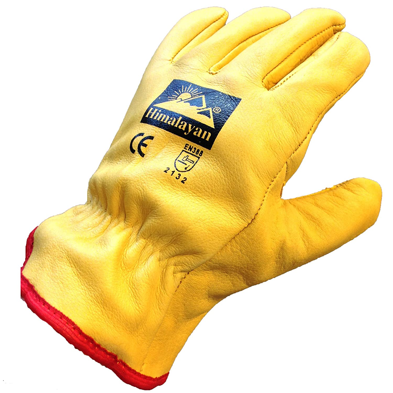 Leather work gloves screwfix - Himalayan H310 Fleece Lined Leather Winter Thermal Cold Work Drivers Gloves Ppe