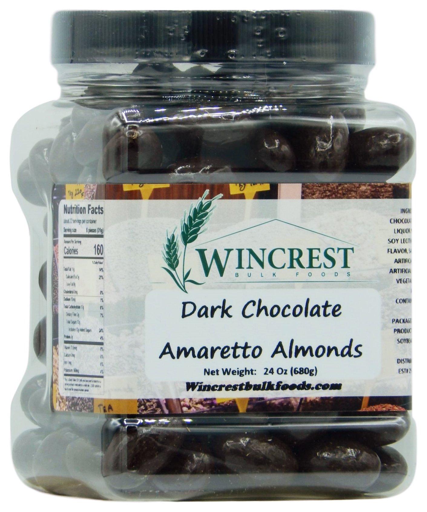 Dark Chocolate Amaretto Almonds - 1.5 Lb Tub