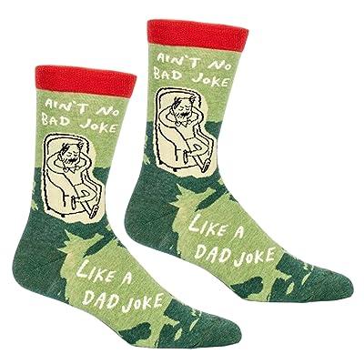 Ain't No Bad Joke Like A Dad Joke Humorous Mens Crew Socks- 2 Pair Pack