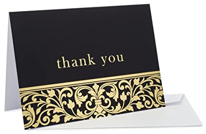 Amazon 36 brilliant gold foil thank you cards luxury cards 36 brilliant gold foil thank you cards luxury cards for weddings graduations professional reheart Images