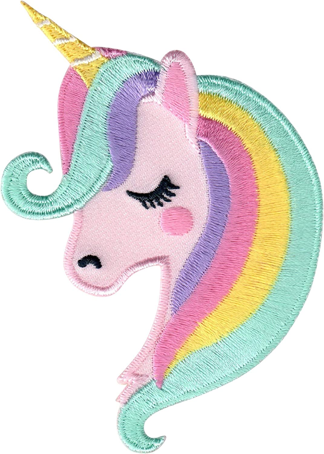 """New Color Colorful Horse Embroidered Iron on Fashion Patch DIY Jacket 8.5/"""""""