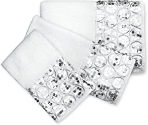 Popular Bath Bath Towels, Sinatra Collection, 3-Piece Set, White