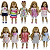 Zita Element Super Value 8 Pcs Doll Clothes Outfit for 14 to 16 inch Alive Baby and 18 American Girl - Random Style