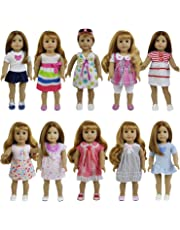 """ZITA ELEMENT 8 Sets American Girl/Baby Alive Clothes Dress for 14""""-16"""" and 18"""" Dolls"""
