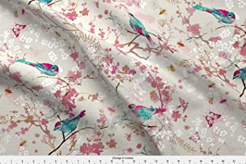 e99fcea2827 Amazon.com: Spoonflower Birds + Bees (Rose) (Regular) by ...
