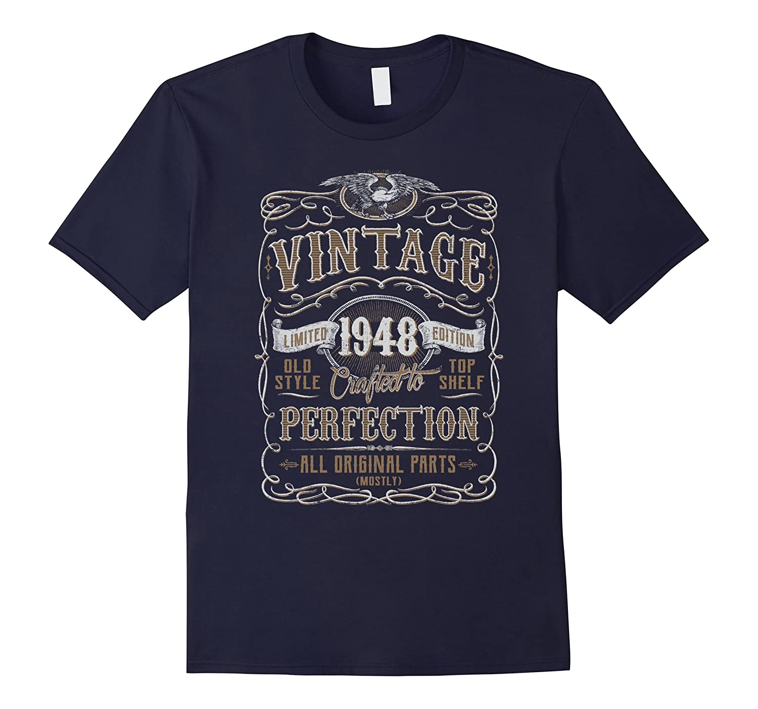 Vintage 1948 Birthday Gift Idea T Shirt-Vaci