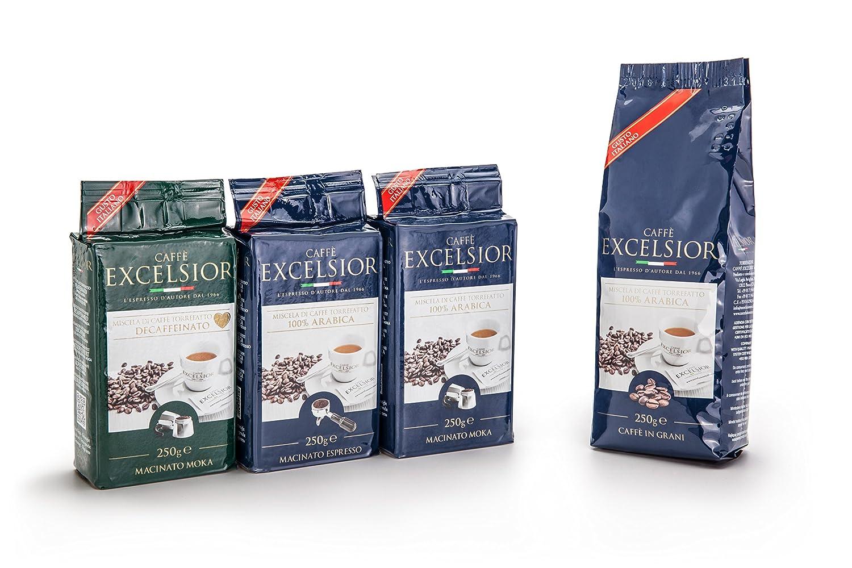 CAFFE EXCELSIOR 100% ARABICA 250 GR. GRANI: Amazon.es: Alimentación y bebidas