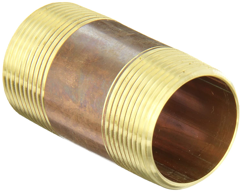 1//4 x 7 MNPT Threaded Red Brass Pipe Nipple
