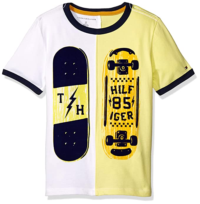 c9b87f90452 TOMMY HILFIGER C587177831 Camiseta de Manga Corta para Niños  Amazon ...