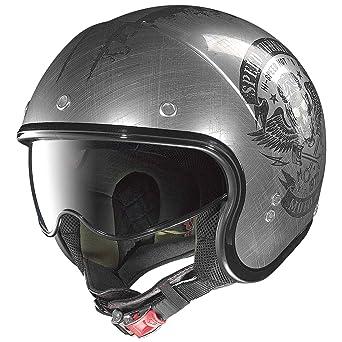 Casco de moto Nolan N21 Speed Junkies Lexan N-com, cromo rayado, tamaño