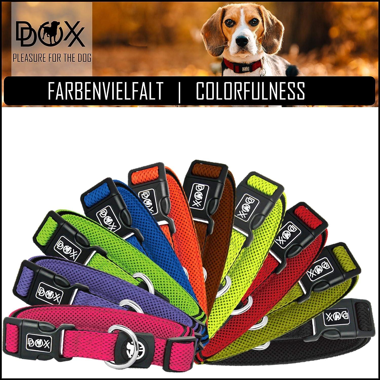 XS Ajustable para Perros Peque/ño DDOXX Collar Perro Air Mesh Mediano y Grande Rojo Acolchado Collares Accesorios Gato Cachorro Diferentes Colores /& Tama/ños