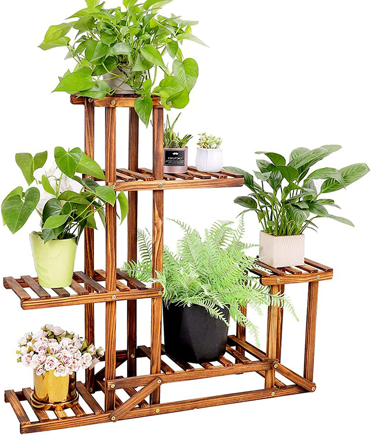 Indoor Outdoor Wooden Plant Stand Shelf Garden Planter Flower Pot Holder Home