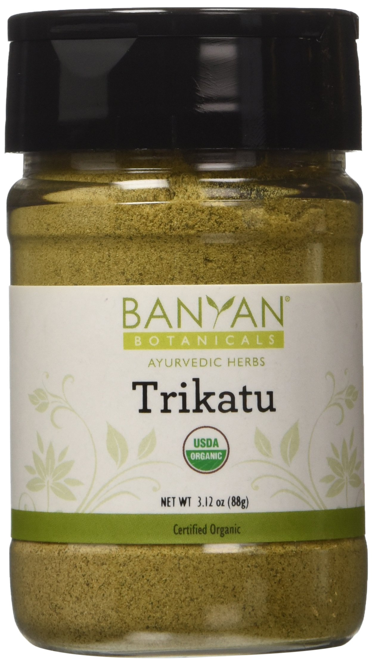 Banyan Botanicals Trikatu Powder - Certified Organic, Spice Jar - Kapha Digest - Digestion formula for kapha*