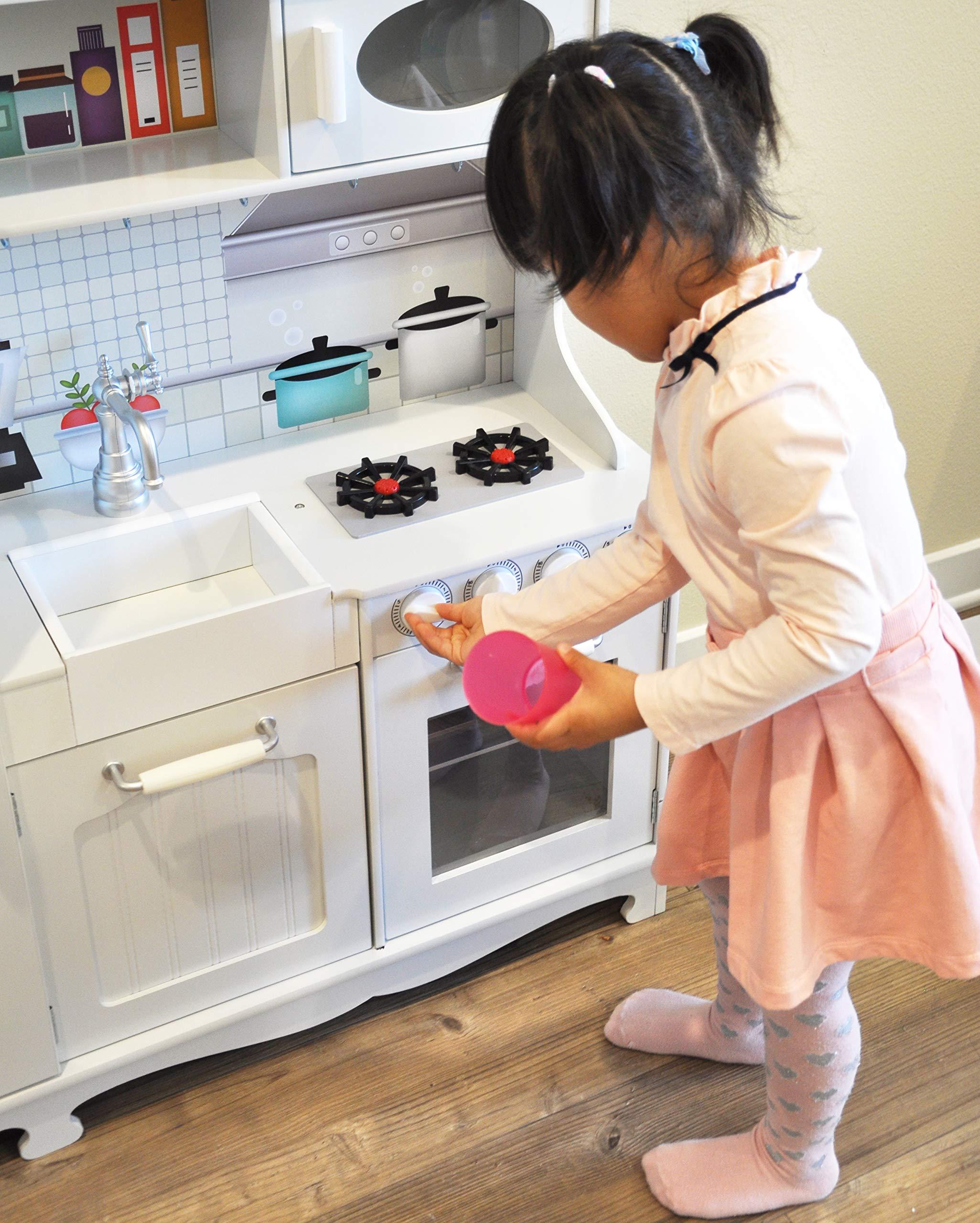 Rainbow Sophia Timeless Wood Kids Play Kitchen by Rainbow Sophia (Image #4)