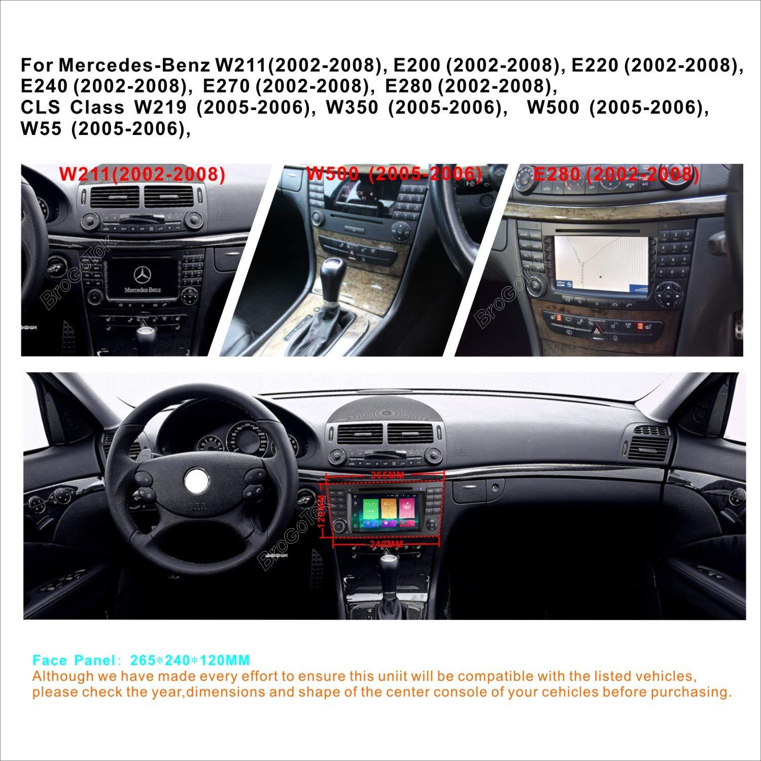 Android 8 0 Car stereo for Mercedes-benz W211 E200 E220
