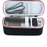 Esimen Hard Case for Nebula Capsule Smart Mini Projector by Anker,Fit Remote Control USB Flash Drive Accessories Carry Bag Protective Box (Black+Red)