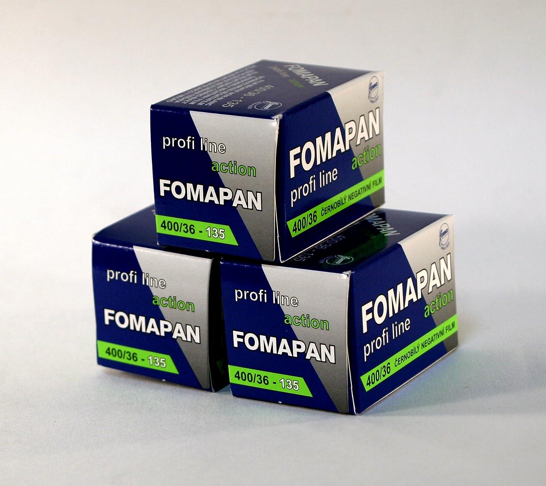 Fomapan 400asa Schwarzwei/ß 35 mm Film 36 Aufnahmen 3 St/ück