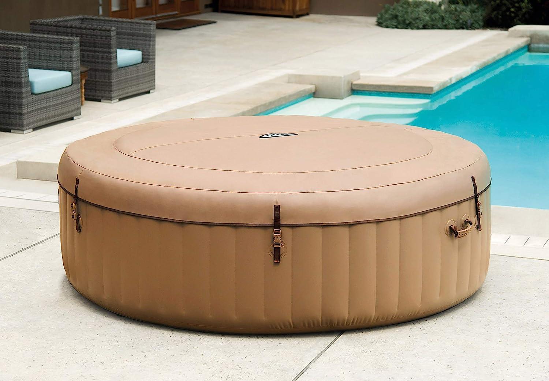 Intex 28427E PureSpa - Spa hinchable, 85 pulgadas, color marrón: Amazon.es: Jardín