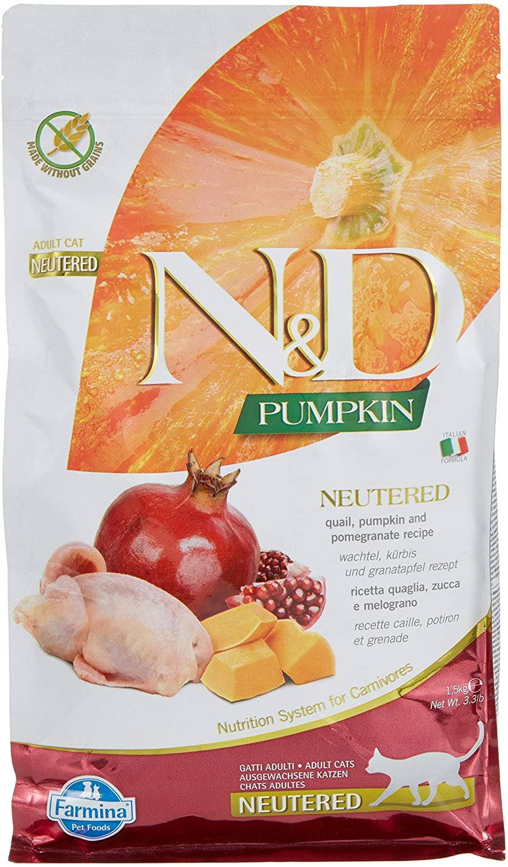 Farmina - Farmina N&D Calabaza y Codorniz Neutered Cat Grain Free - 2354 - 1,5 Kg.