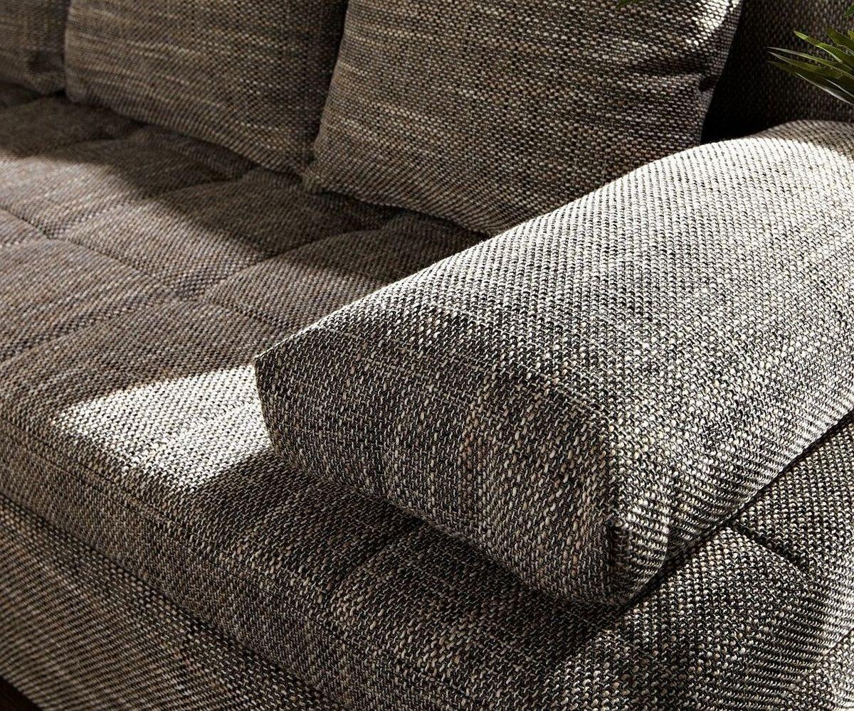 Elegant Ecksofa Strukturstoff Ideen Von Delife Couch Juline Grau 200x155 Mit Schlaffunktion