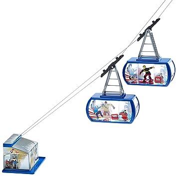Dickie 203643712 Mountain Fun Batteriebetriebene Seilbahn Mit