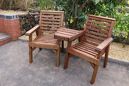 Wooden Love Seats Solid Garden Furniture Quality