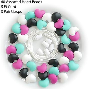 Bracelet Hexagon  Mom DIY Necklace Baby Teether BPA-Free Silicone Chew Beads