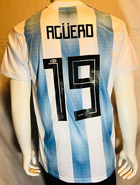 Autographed Sergio Aguero Jersey - World Cup Adidas Beckett BAS - Beckett  Authentication - Autographed Soccer Jerseys at Amazon s Sports Collectibles  Store 917a3a707