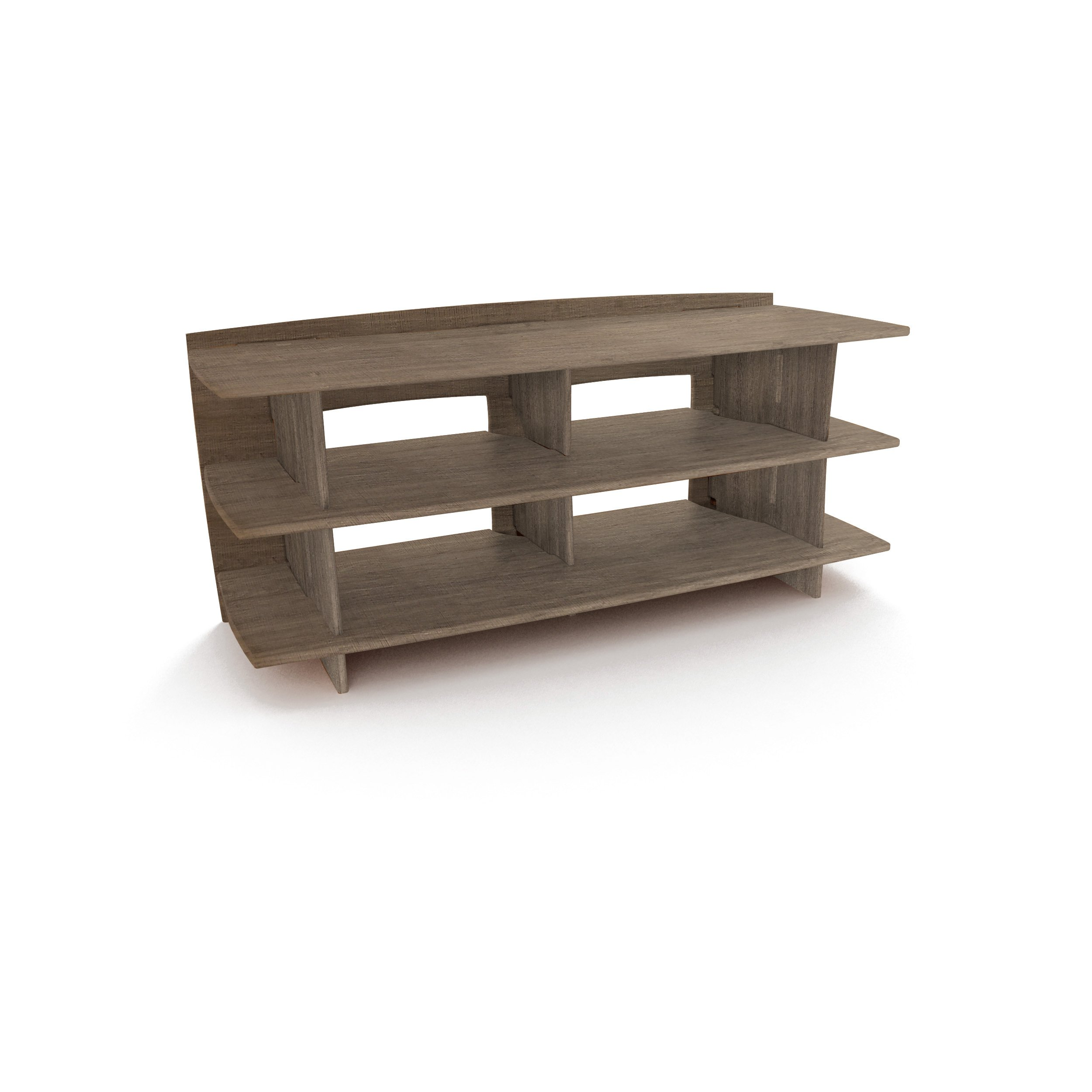 Legare Furniture, No Tools Assembly 53-Inch by 24-Inch Media Stand, Grey Driftwood by Legare (Image #1)