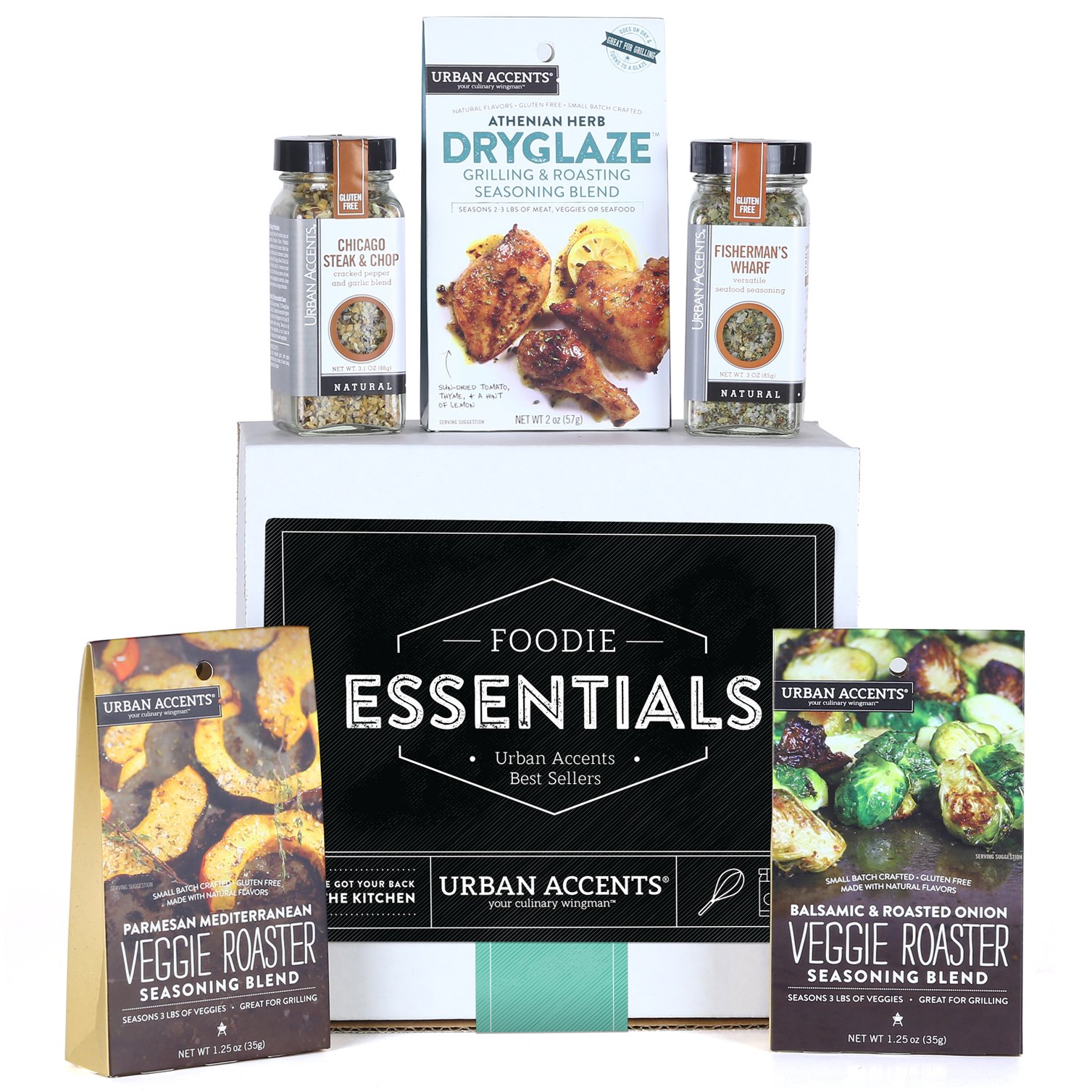 Urban Accents FOODIE ESSENTIALS, Gourmet Gift Set, A Collection of Spices, Veggie Roasters and Dryglazes, Perfect for Weddings, Housewarmings or Any Occasion by Urban Accents (Image #1)