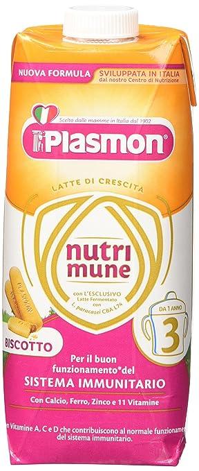 6 opinioni per Plasmon Latte Liquido Nutri Mune 3 Biscotto- 12 confezioni da 500 ml- Totale: 6