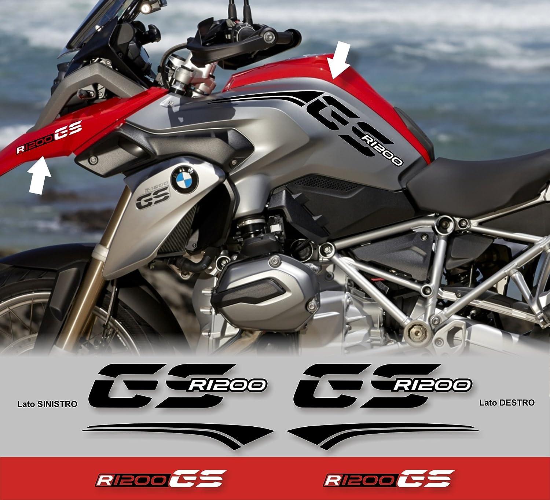 BLACK Kit adesivi laterali COMPATIBILI CON BMW R 1200 GS 2013-2016 AD-R1200GS-STD-001