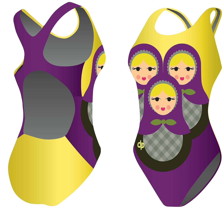 Diapolo Matrjoska Badeanzug für Schwimmen Synchronschwimmen Wasserball Thriathlon