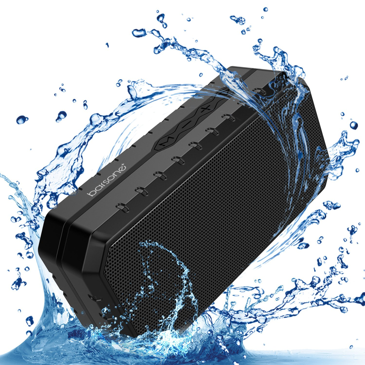 Barsone Portable Wireless Bluetooth Speaker, Water Resistant, Handsfree Calling,TF Card Slot (Black)