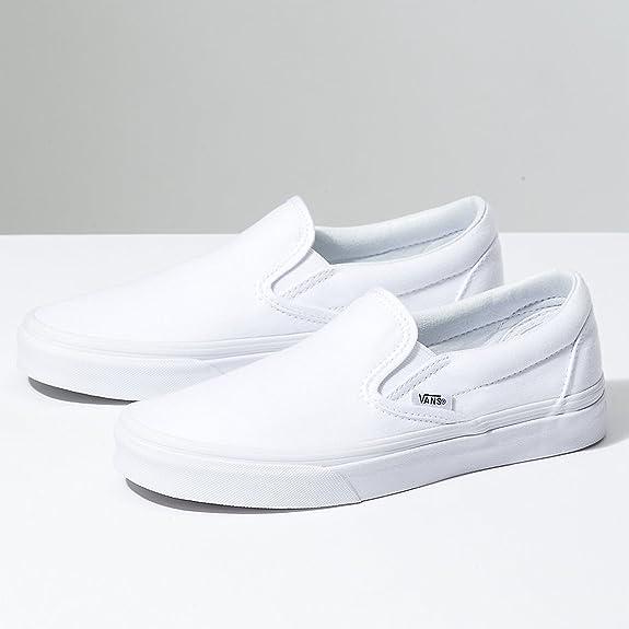 1378c500a878d1 Amazon.com  Vans Unisex Classic Slip-On Black Black VN000EYEBKA  Shoes