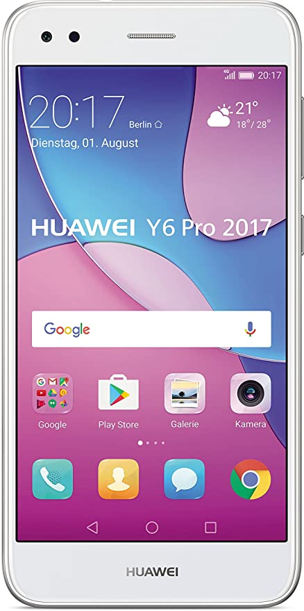 Huawei Y6 Pro 2017 Smartphone 127 Cm 5 Zoll Ips Display 16 Gb Speicher Android 70 Silber