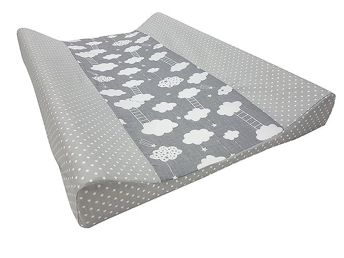 Babymajawelt® Colchón cambiador para bebé - 2 cuñas STARS + 50 x 70 cm funda de algodon (rosa): Amazon.es: Bebé