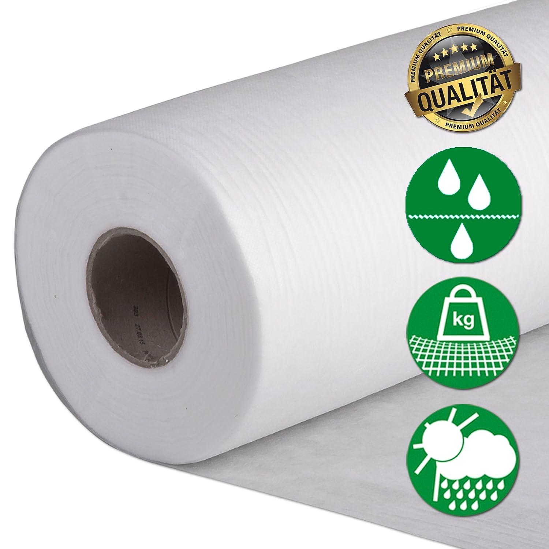 TOPCLEAR Filtervlies für Vliesfilter Filter Vlies Rolle 200m x 50cm 20g//m²