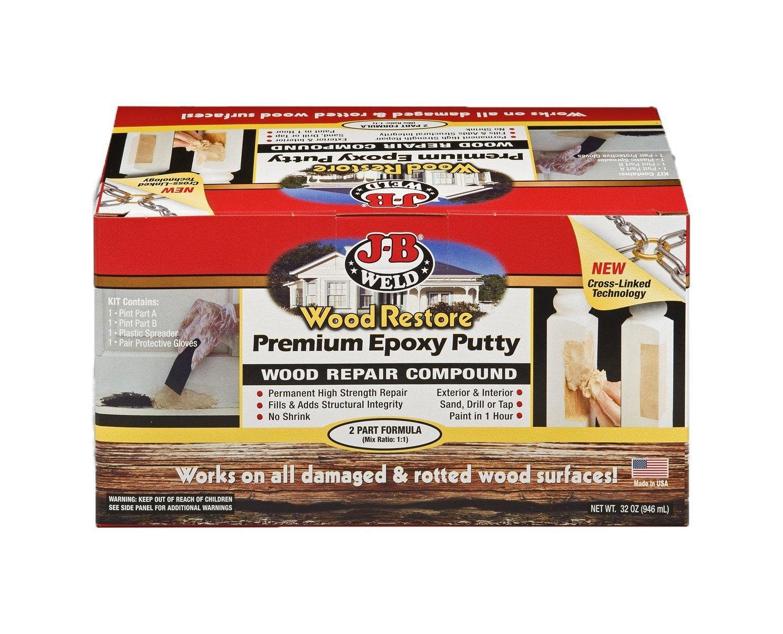 J-B Weld 40005 Wood Restore Premium Epoxy Putty Kit - 12 oz