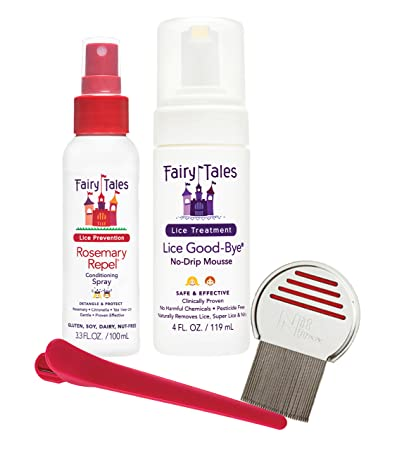 Fairy Tales Lice Good-Bye Survival Kit for Lice Treatment - Includes Treatment Mousse ,